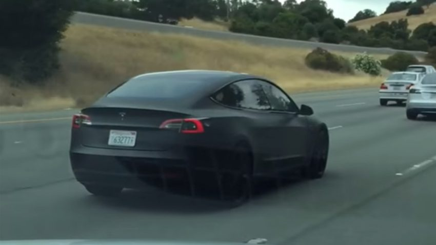tesla model 3 highway
