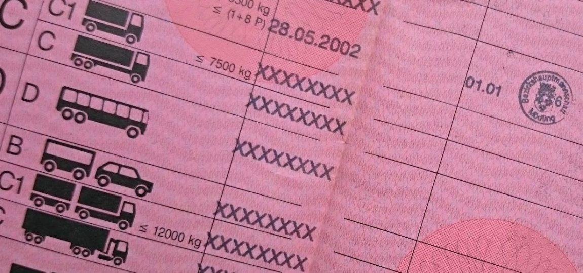 Was bedeuten die Zahlen/Codes im Führerschein?