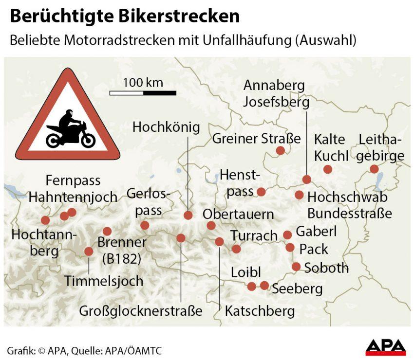 Motorradstrecken-Oesterreich