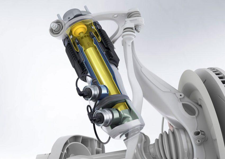 Ein Dreikammer-Luftfederbein der Adaptiven Luftfederung
