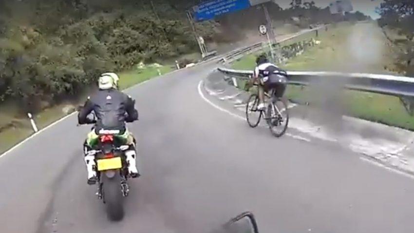Wenn ein Fahrradfahrer einen Biker überholt ...