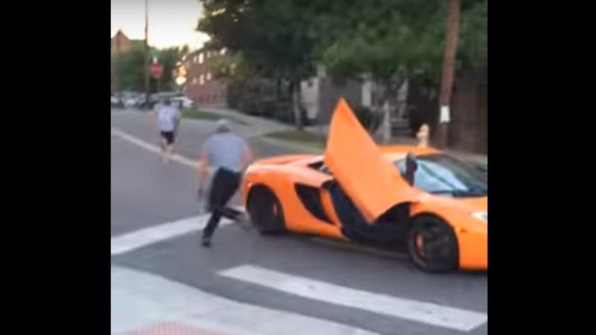 Skateboarder vs. McLaren-Fahrer - doch nur ein Fake