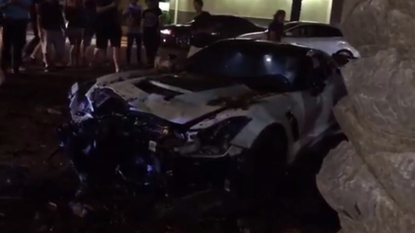 Corvette Z06 außer Kontrolle