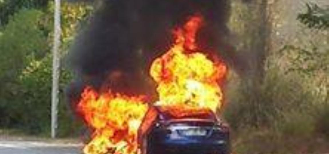 Tesla Model S fing in Frankreich Feuer