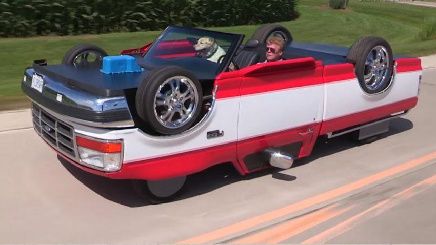 Dieser verkehrte Pick-up ist fahrbar