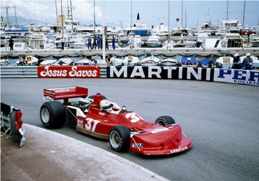 Arturo Merzario im March Ford 761B (Team Merzario) beim Training zum GP Monaco 1977