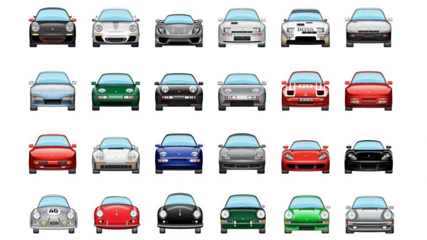 Gefühle zeigen mit Porsche-Emojis
