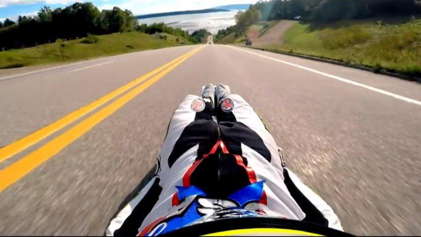 160 km/h auf der Straßenrodel