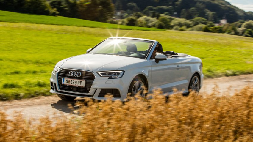 Audi A3 Cabrio 1,4 TFSI COD: Fastenjoghurt