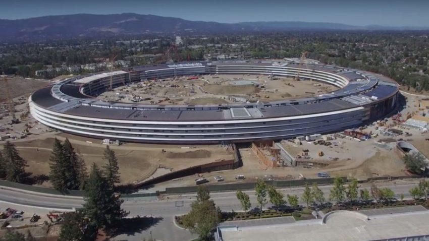 Drohnen-Video zeigt Apples neues Raumschiff