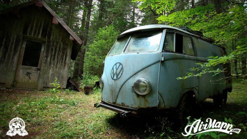 Waldfund: Die abenteuerliche Rettung eines 1955er VW Kastenwagens