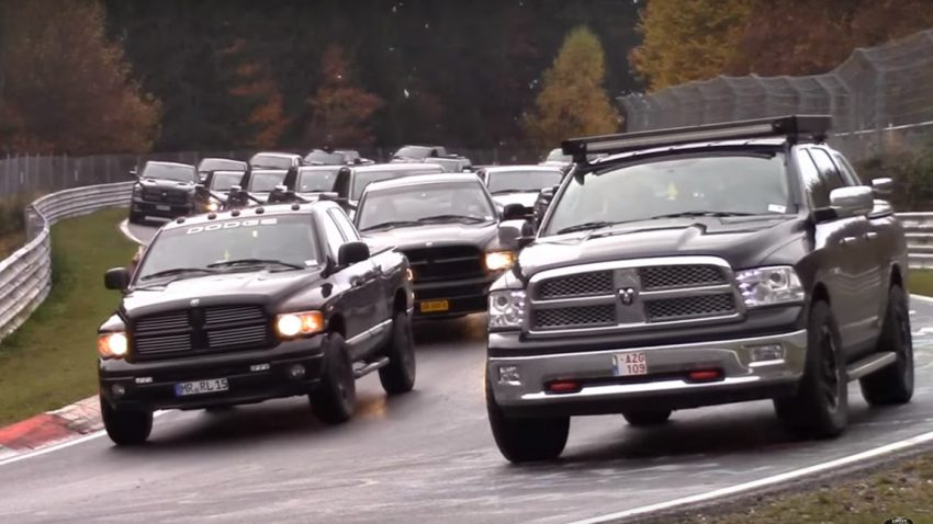 Dodge Ram-Invasion am Nürburgring