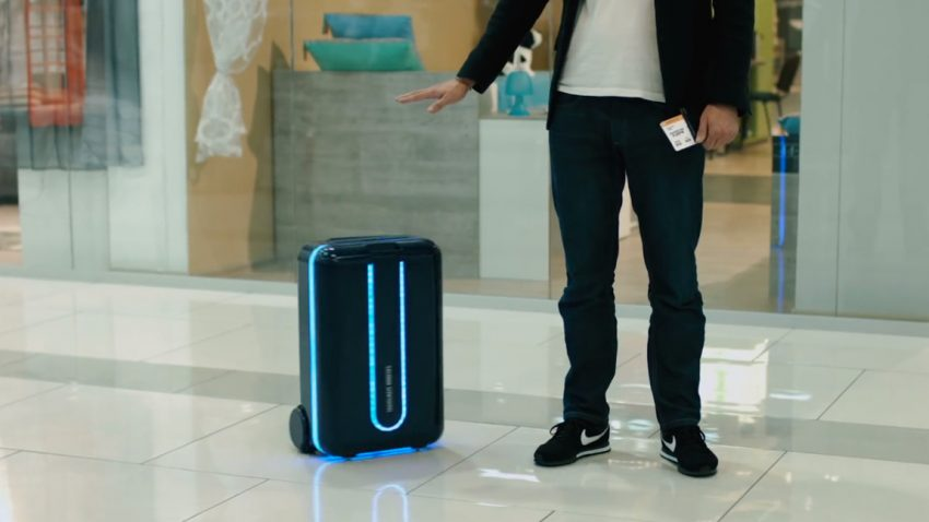 Dieser selbstfahrende Koffer folgt seinem Besitzer auf Schritt und Tritt