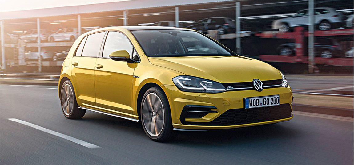 VW Golf: Der siebente Golf von links
