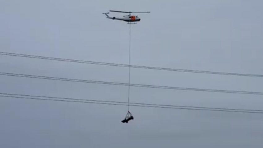 Wenn statt dem Abschleppwagen der Helikopter kommt ...