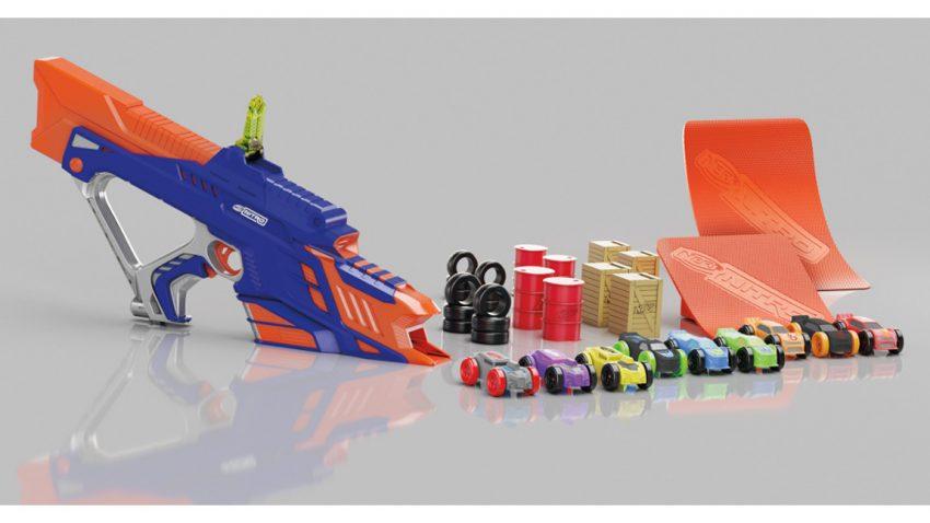 Diese Nerf Gun verschießt kleine Autos