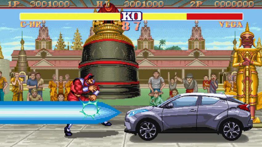 Toyota C-HR mischt Street Fighter II auf