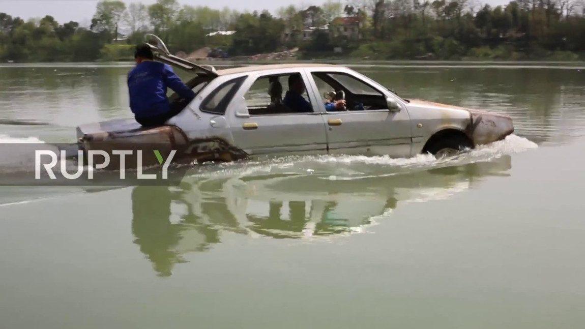 Dieses chinesische DIY-Amphibienauto kann tatsächlich auf dem Wasser fahren
