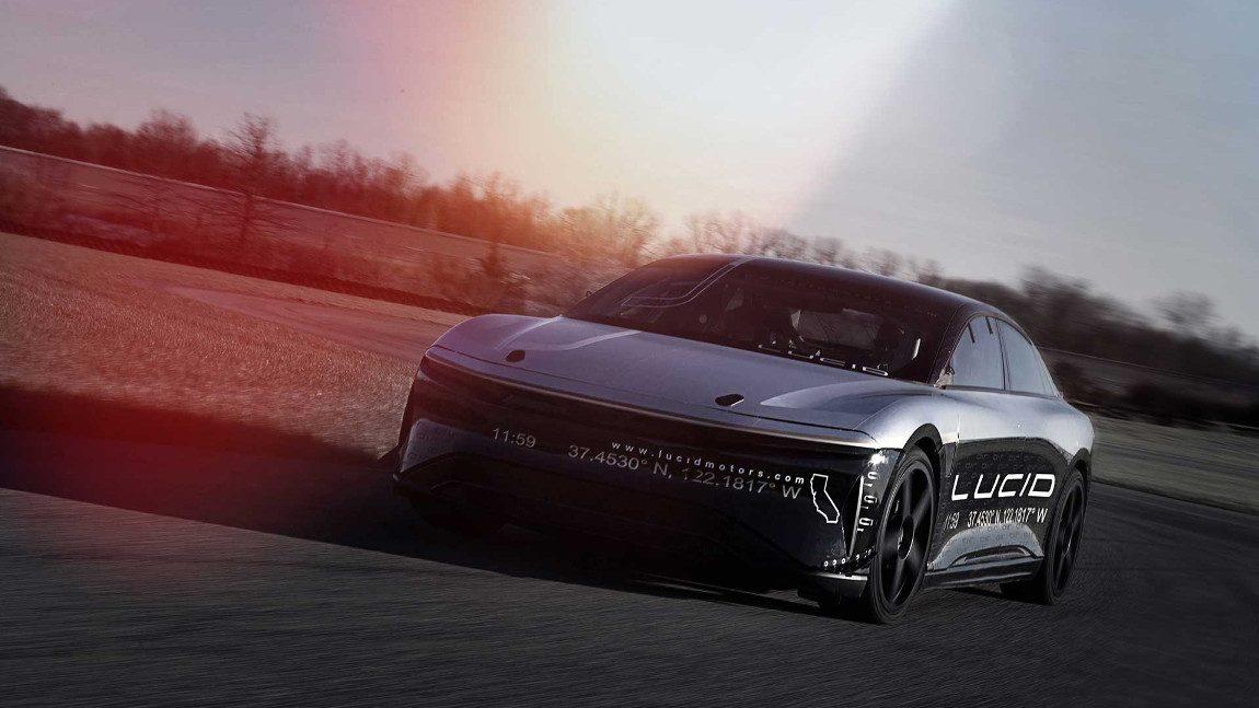 Lucid Motors' Elektroauto absolviert Highspeed-Test mit 350 km/h