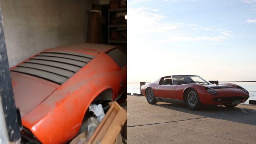 Nach 22 Jahren in der Scheune ist dieser Lamborghini Miura wieder zurück auf der Straße