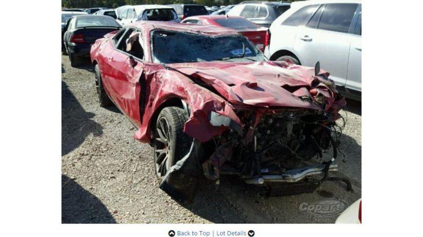 Dieser Dodge Challenger Hellcat hatte kein langes Leben