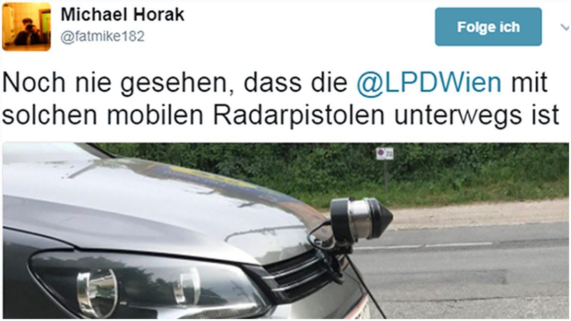 Radargeräte auf Zivilfahrzeugen