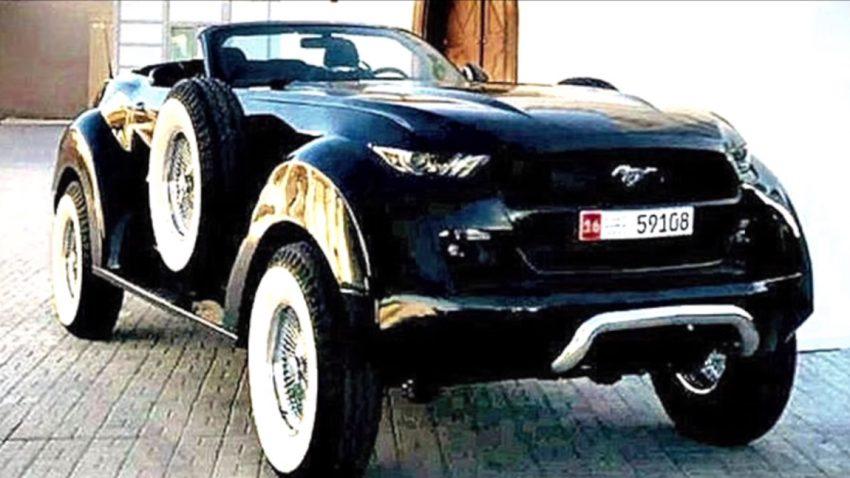 Dieses Ungetüm ist halb Mustang, halb Dodge Ram - und es existiert wirklich
