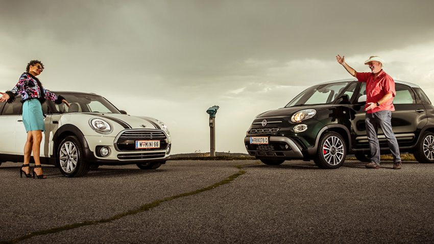 Mini Clubman vs. Fiat 500L: Teddy cool