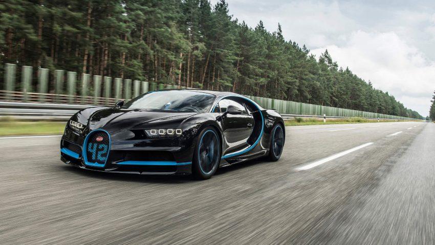 0-400-0 km/h in 41,96 Sekunden: Weltrekord für den Bugatti Chiron