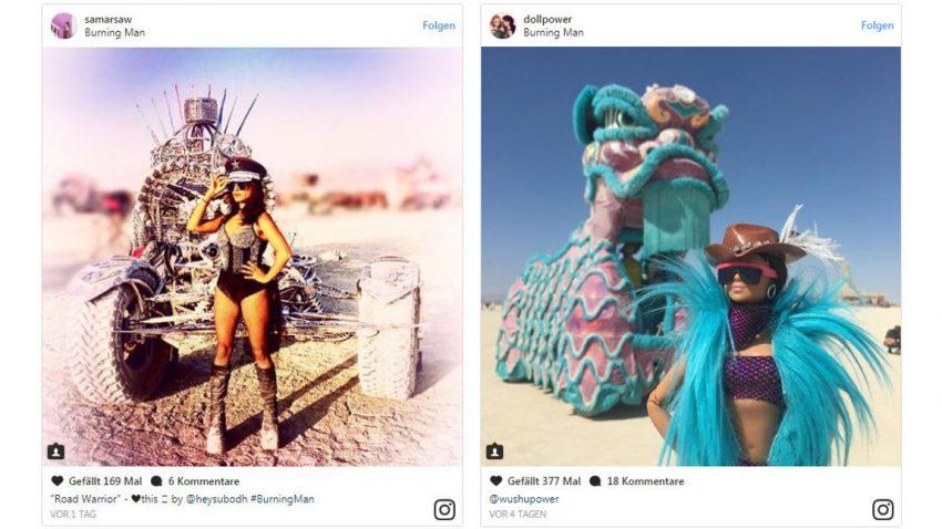 Nackte Haut trifft Motor-Psychos: Die irrsten Art Cars am Burning Man 2017