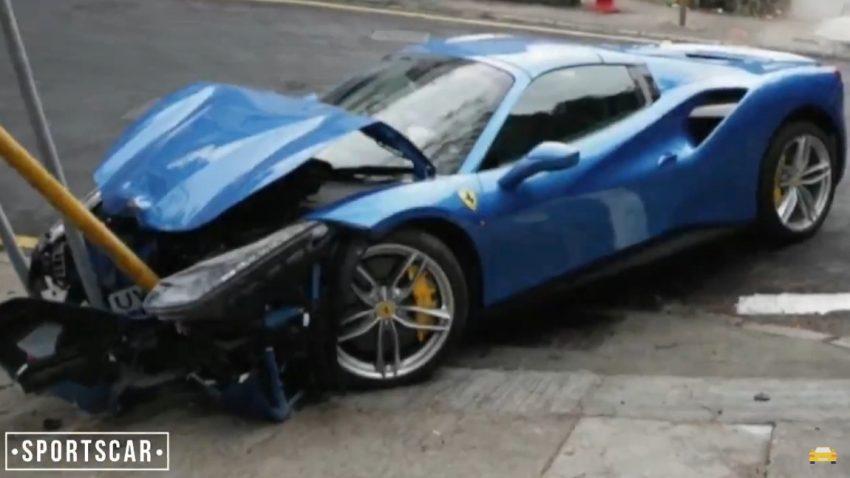 Ferrari 488 Spider verunfallt wegen ... Hund?