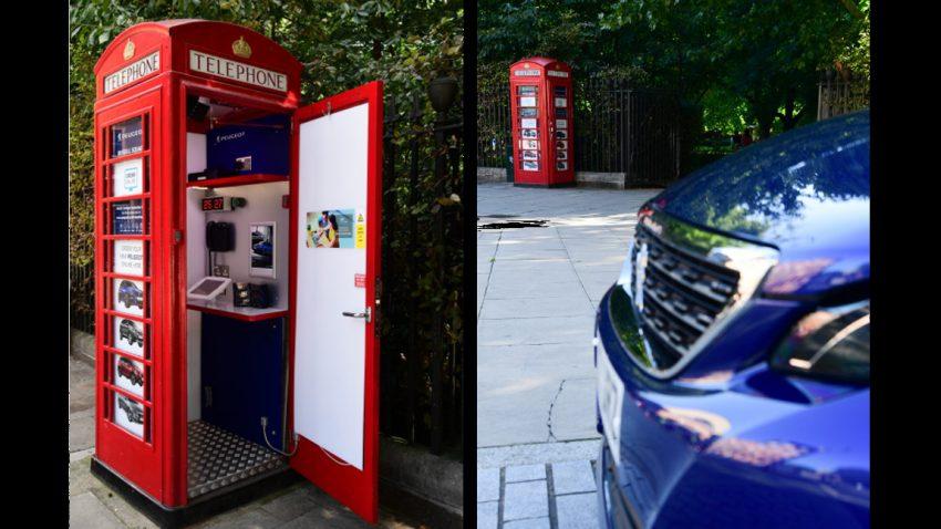 Das kleinste Autohaus der Welt ist … eine Telefonzelle
