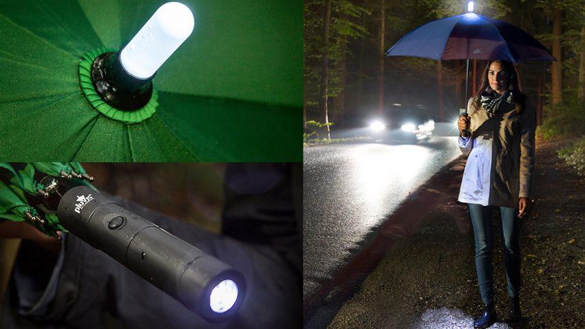 Dieser Regenschirm erhöht eure Sicherheit im Straßenverkehr