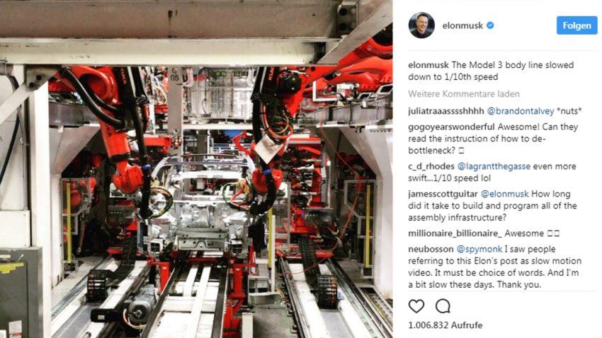 Tesla zeigt Videos von Model 3-Produktion