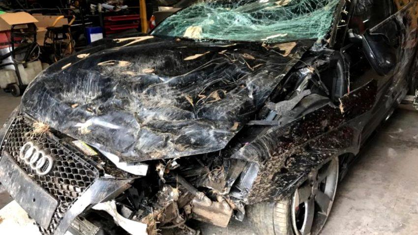 Crash mit 200 km/h: Dieser Audi-Fahrer ist ein echter Glückspilz