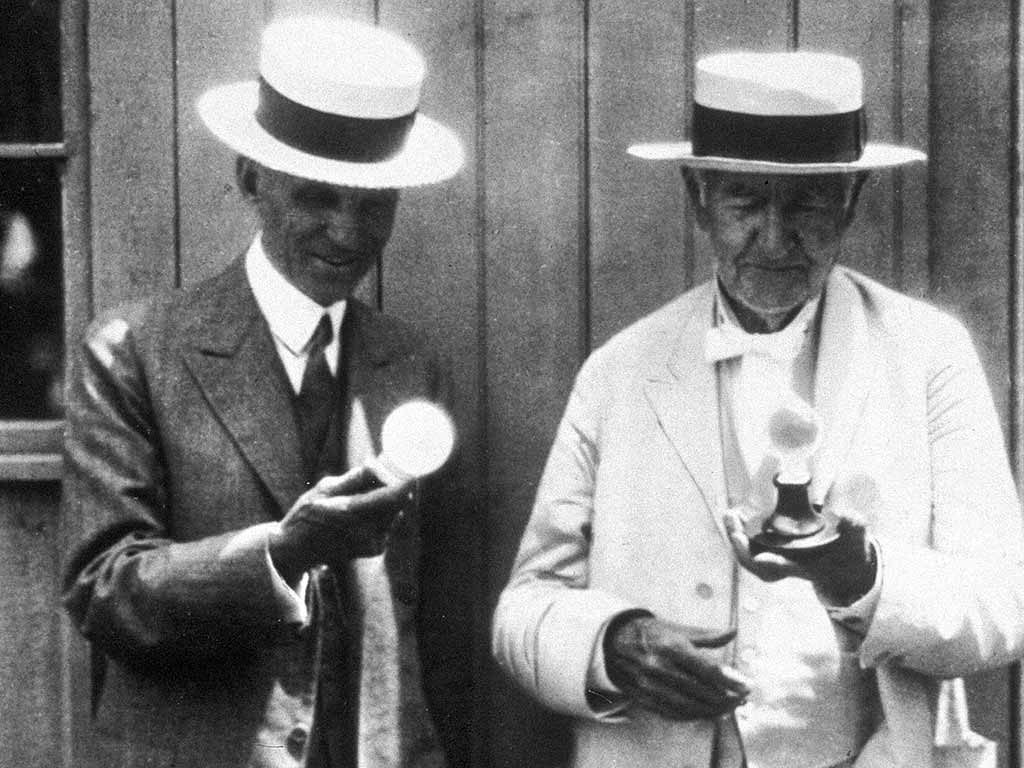 Henry Ford und Thomas Edison