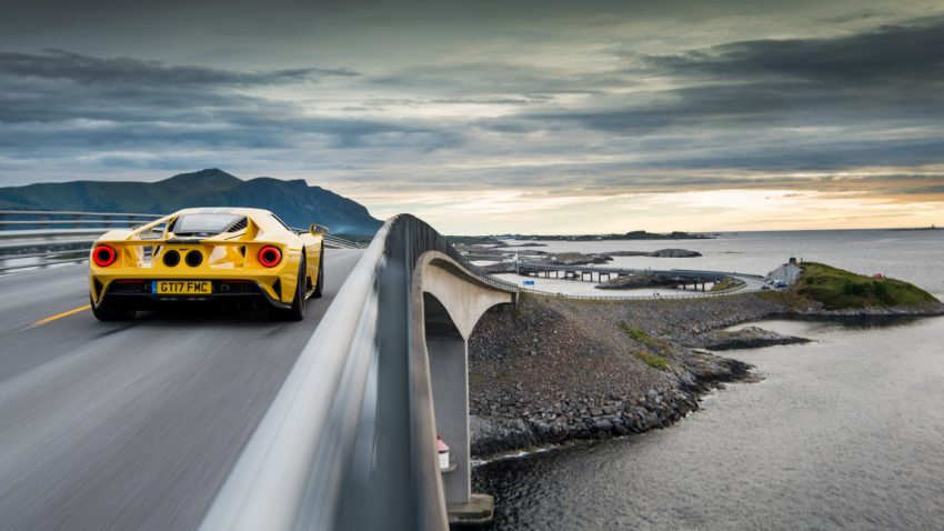 Auf Rekordjagd in Norwegen: Mit dem Ford GT auf der Atlantikstraße