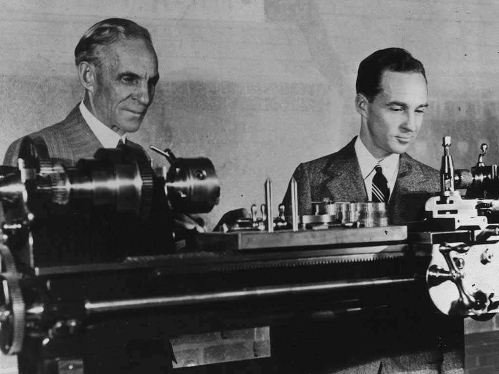 Henry Ford und Sohn Edsel Ford