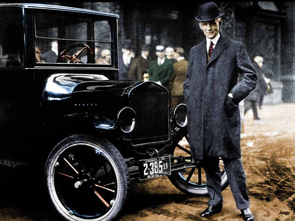 Henry Ford und sein Modell T.