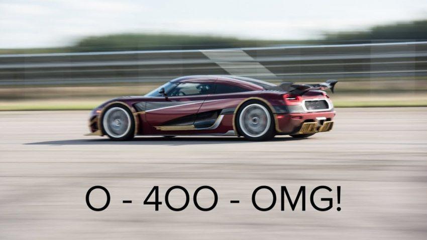 Koenigsegg Agera RS pulverisiert den 0-400-0 km/h-Rekord des Bugatti Chiron