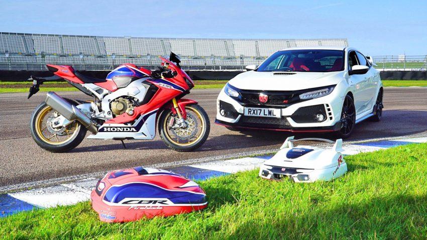 Den Honda Civic Type R gibt's jetzt auch als ... Rasenmäher