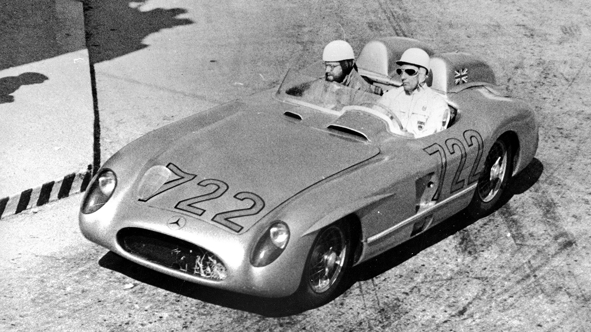 Mille Miglia 1955 Stirling Moss Denis Jenkinson Mercedes-Benz 300 SLR