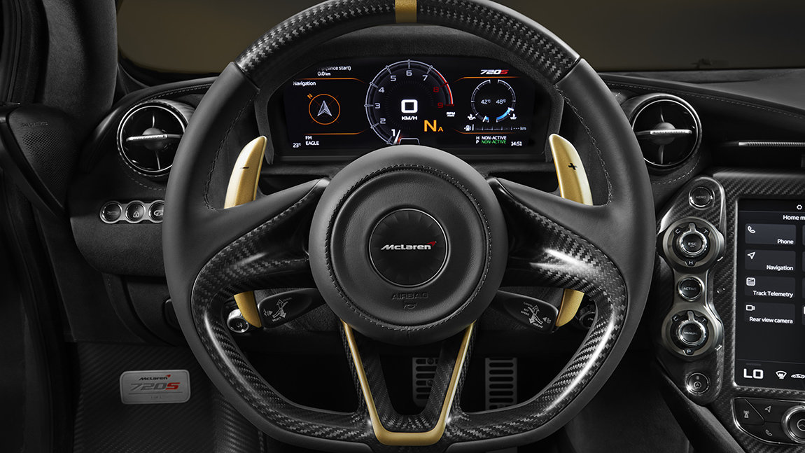 McLaren 720S Dubai gold on Black MSO