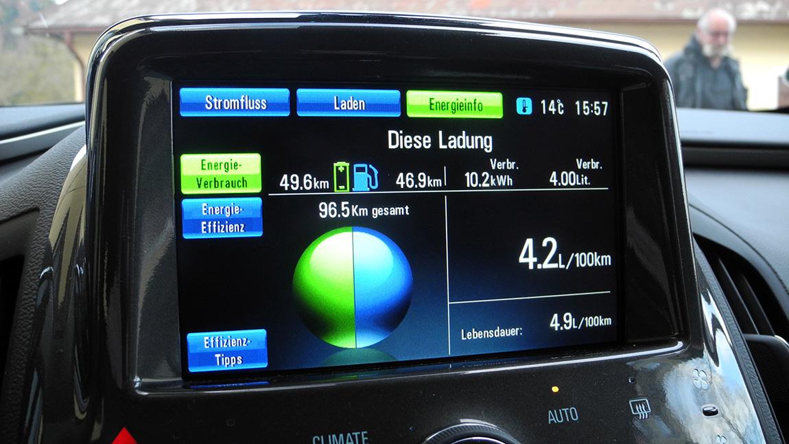 Opel Ampera Innenraum