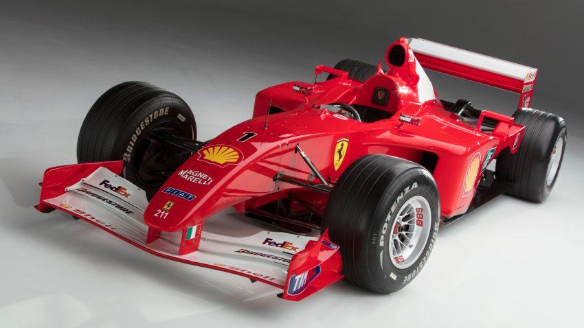 Michael Schumachers Ferrari F2001 für 7,5 Millionen Dollar versteigert