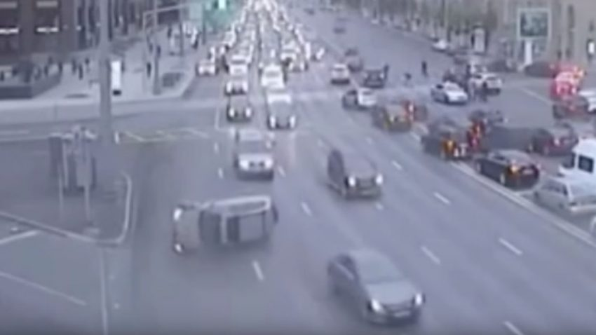 Spontaner Straßensprung: Was ist hier passiert?