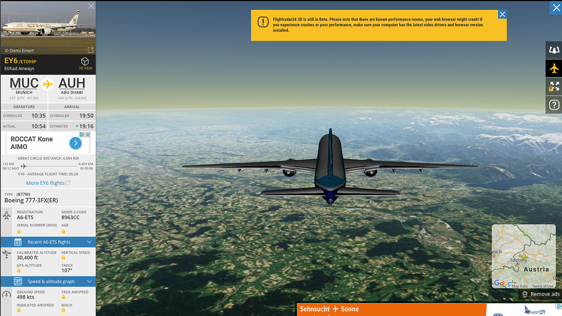 Flightradar Screenshot 3D