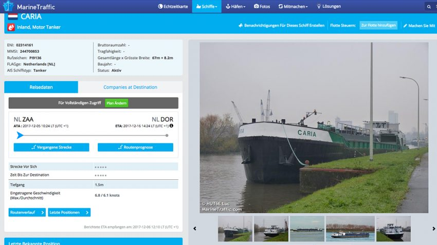 Marinetraffic Screenshot