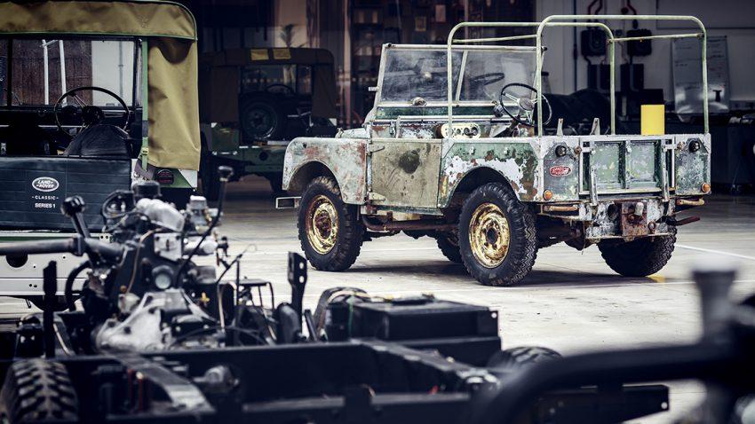 Aller erster Land Rover Restaurierung