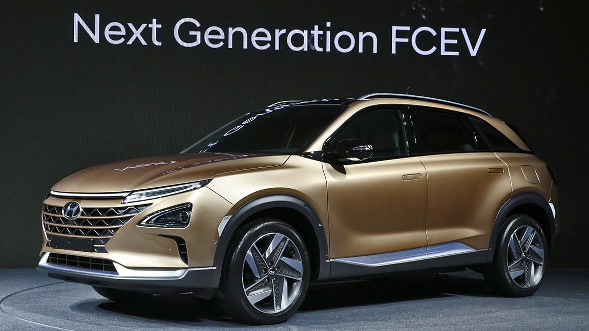 Hyundai Nexo Brennstoffzellenfahrzeug Wasserstoffauto